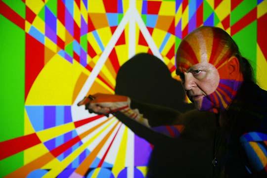 Adi Da Samraj Working with art projection