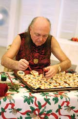 Avatar Adi Da Decorating Holiday Cookies